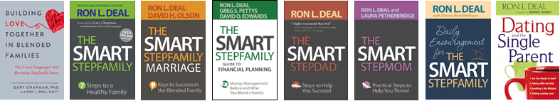 Ron Deal's 2020 Smart Step Family book covers.